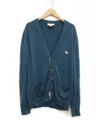 MAISON KITSUNE(メゾンキツネ)の古着「ワンポイントロゴカーディガン」|ブルー