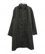 DESCENTE PAUSE()の古着「ウールミックスオーバーフーデッドコート」 グレー