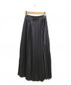 Diagram(ダイアグラム)の古着「プリーツラップスカート」|パープル
