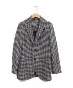 CIRCOLO 1901(チルコロ1901)の古着「千鳥柄2Bジャケット」 ホワイト×ネイビー