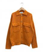 TOMORROW LAND tricot(トゥモローランドトリコ)の古着「グレンメリノ ニットブルゾン」|オレンジ