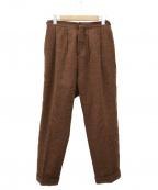UMIT BENAN(ウミットベナン)の古着「ヘリンボーンパンツ」|ベージュ