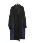 TOGA VIRILIS(トーガ ヴィリリース)の古着「シースルーコート」|ブラック×ブルー
