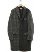 BEAUTY&YOUTH(ビューティーアンドユース)の古着「ハリスツイードチェスターコート」|グレー