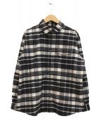 THE NORTH FACE(ザノースフェイス)の古着「ロングスリーブストレッチフランネルシャツ」|ホワイト×ブラック