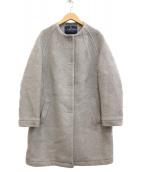 LONDON Tradition(ロンドントラディション)の古着「ノーカラーコート」|グレー