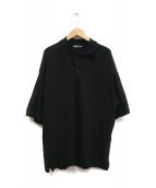 AURALEE(オーラリー)の古着「スーパーソフトピケビックポロシャツ」|ブラック