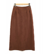 Ron Herman(ロンハーマン)の古着「フェイクスウェードタイトスカート」|レッド