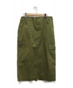 journal standard luxe(ジャーナルスタンダード ラックス)の古着「ミリタリーツイル ベイカーカーゴスカート」|カーキ