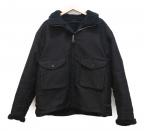 OLD JOE & Co.(オールドアンドジョー)の古着「ALPACA SHEARING AVIATOR JACKET」|ブラック