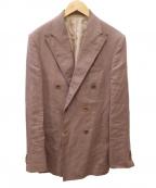 Errico Formicola(エリコフォルミコラ)の古着「リネンダブルジャケット」|ブラウン