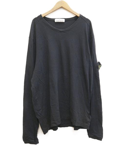 STONE ISLAND(ストーンアイランド)STONE ISLAND (ストーンアイランド) Vネックロングスリーブカットソー ブラック サイズ:XL 651521445の古着・服飾アイテム