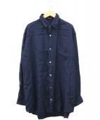YS for men(ワイズフォーメン)の古着「ロングレーヨンシャツ」|ネイビー