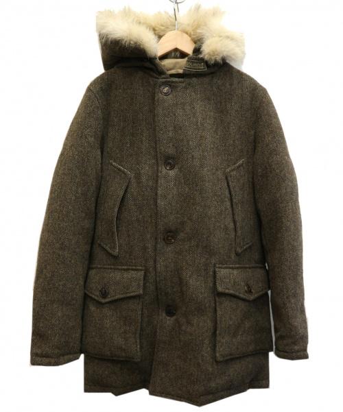 WOOLRICH(ウールリッチ)WOOLRICH (ウールリッチ) MOONツイードアークティックパーカー ベージュ サイズ:XS 1202041の古着・服飾アイテム