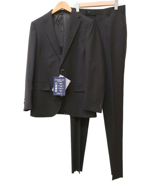 simplicite plus(シンプリシテ プリュス)simplicite plus (シンプリシテプラス) ウォッシャブルトロピカルセットアップスーツ ブラック サイズ:44 未使用品の古着・服飾アイテム