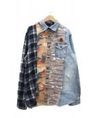 BILLIONAIRE BOYS CLUB(ビリオネアボーイズクラブ)の古着「リメイクシャツ」|マルチカラー