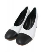 Proenza Schouler(プロエンザ スクーラー)の古着「切替パンプス」|ホワイト×ブラック