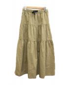 GRAMICCI(グラミチ)の古着「リネンコットンティアードスカート」|ベージュ