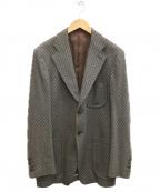 Paul Smith London(ポールスロンドン)の古着「ジャガードテーラードジャケット」 グレー