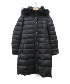 TONAL(トーナル)の古着「ロングダウンコート」 ブラック