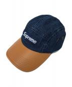 SUPREME(シュプリーム)の古着「ツートンデニムキャンプキャップ」|ベージュ×インディゴ