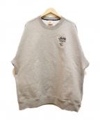 NIKE × STUSSY(ナイキ × ステューシー)の古着「フリースクルースウェットシャツ」|グレー