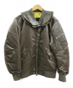 DIESEL(ディーゼル)の古着「フリルMA-1ジャケット」|カーキ