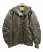 DIESEL(ディーゼル)の古着「フリルMA-1ジャケット」 カーキ