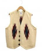 ORTEGAS(オルテガ)の古着「スクエアフロントチマヨベスト」 ベージュ