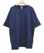 LOOPWHEELER × BEAMS PLUS(ループウィーラー×ビームスプラス)の古着「半袖スウェットシャツ」|ネイビー