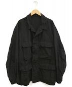 COMOLI(コモリ)の古着「21SSリネン B.D.Uジャケット」 ブラック
