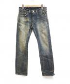 TMT(ティーエムティー)の古着「16周年記念ヴィンテージ加工デニムパンツ」|インディゴ