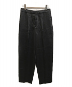 ()の古着「サテンタックパンツ」|ブラック