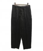 CINOH(チノ)の古着「サテンタックパンツ」|ブラック