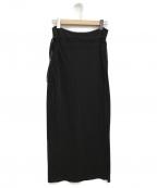 08sircus(ゼロエイトサーカス)の古着「ニットマキシスカート」 ブラック