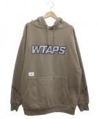 WTAPS()の古着「20AWドリフターズロゴプリントプルオーバーパーカー」|ベージュ
