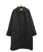 THE NORTHFACE PURPLELABEL(ザノースフェイスパープルレーベル)の古着「21SS別注ステンカラーコート」|ブラック