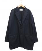 eN ROUTE(アンルート)の古着「エステルコットン2ボタンビッグジャケット」|ネイビー