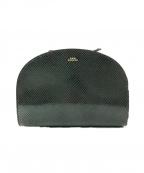 A.P.C.(アーペーセー)の古着「ハーフムーンスネーク柄ショルダーバッグ」|ブラック