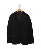 COMME des GARCONS HOMME()の古着「ボリ縮絨加工テーラードジャケット」|ブラック