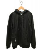 DIESEL(ディーゼル)の古着「コーティング加工ジップアップパーカー」|ブラック