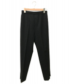 DEUXIEME CLASSE(ドゥーズィエム クラス)の古着「スリットテーパードパンツ」 ブラック
