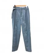STUNNING LURE(スタニングルアー)の古着「ストレッチリネンフルイドパンツ」|ブルー