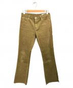 upper hights(アッパーハイツ)の古着「JENNA CORDUROY SLIT PANTS」|ブラウン