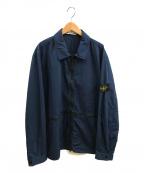 STONE ISLAND()の古着「ZIP コットン製品染めオーバーシャツブルゾン」|ネイビー