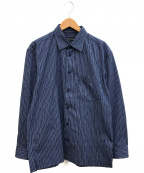 ISSEY MIYAKE MEN(イッセイミヤケメン)の古着「シワ加工シャツ」|ネイビー