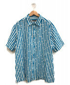 ()の古着「半袖シャツ」|ホワイト×ブルー