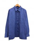 ISSEY MIYAKE MEN(イッセイミヤケメン)の古着「シワ加工シャツ」|ブルー