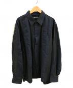 ISSEY MIYAKE MEN(イッセイミヤケメン)の古着「切替シャツ」|ネイビー×ブラック