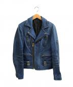 MASTER&CO.(マスターアンドコー)の古着「ダブルライダースジャケット」|ブルー